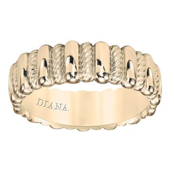 Diana 14K 7mm Yellow Gold Soft Sand Band Wedding Band