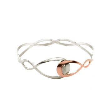 Frederic Duclos  Sterling Silver And Rose Gold Plated Pear Cuff