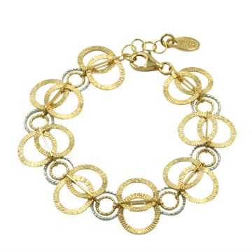 Frederic Duclos  Sterling Silver And Yellow Gold Plated Ooh'S Bracelet