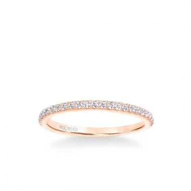 ArtCarved Sybil Classic Diamond Wedding Band in 18k Rose Gold