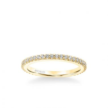 ArtCarved Jill Classic Diamond Wedding Band in 18k Yellow Gold