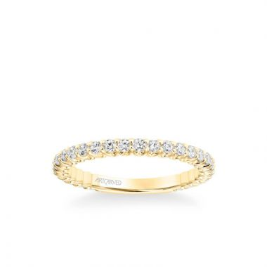 ArtCarved Arabelle Classic Diamond Wedding Band in 14k Yellow Gold