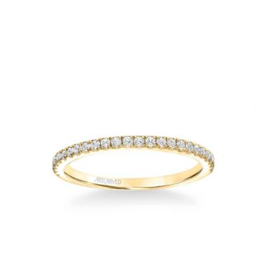ArtCarved Kit Classic Diamond Wedding Band in 14k Yellow Gold