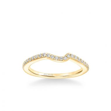 ArtCarved Zola Contemporary Diamond Wedding Band in 14k Yellow Gold