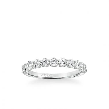 ArtCarved Nine Stone Anniversary Band 1 ctw in 14k White Gold