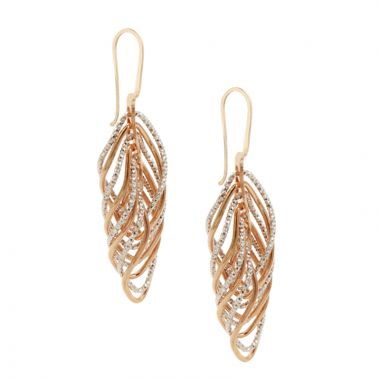 Frederic Duclos  Sterling Silver and Rose Gold Plated Vortex Earrings