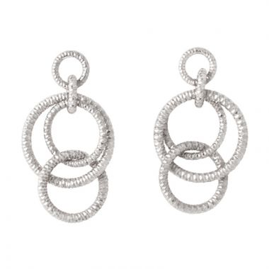 Frederic Duclos  Sterling Silver Multi Ring Drop Earring