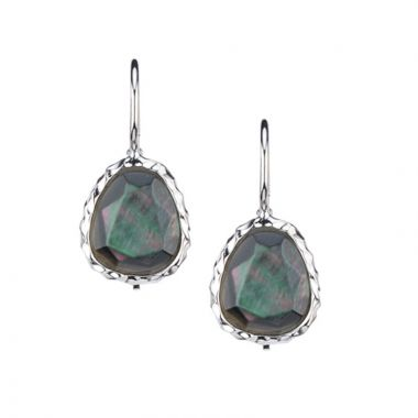 Frederic Duclos  Sterling Silver Black Mother-Of-Pearl Earring