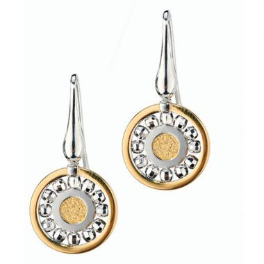 Frederic Duclos  Sterling Silver Yellow Gold Plated Glow Earrings