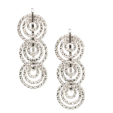 Frederic Duclos  Sterling Silver Mini Circles Earrings