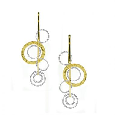 Frederic Duclos  Sterling Silver And Yellow Gold Plated Curved Ooh'S Earring