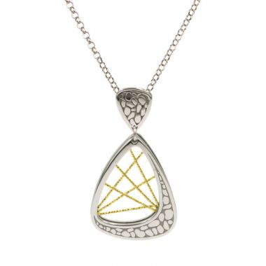 Frederic Duclos  Sterling Silver And Yellow Gold Plated Milky Way Necklace