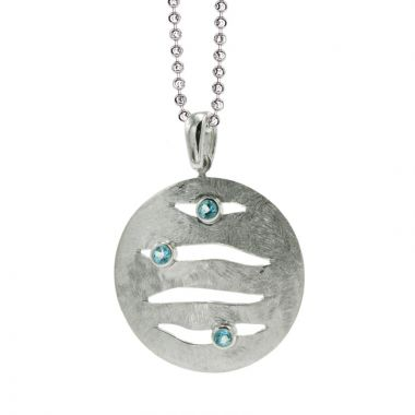 Frederic Duclos  Sterling Silver Blue Topaz Amy Necklace