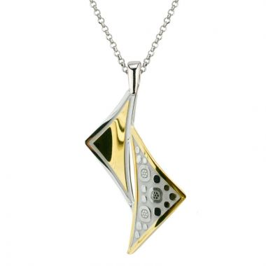 Frederic Duclos  Sterling Silver And Yellow Gold Plated Laila Necklace