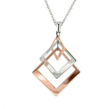 Frederic Duclos  Sterling Silver And Rose Gold Plated Iris Necklace