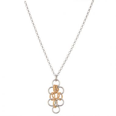 Frederic Duclos  Sterling Silver Yellow Gold Plated Amelia Necklace