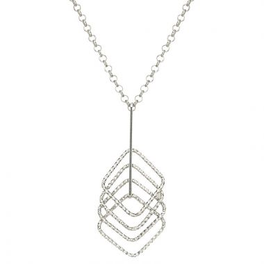 Frederic Duclos  Sterling Silver Pathway Square Necklace