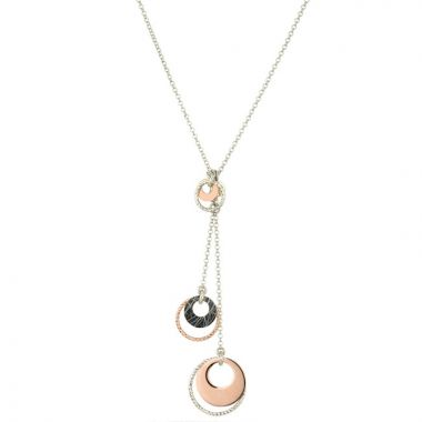 Frederic Duclos  Sterling Silver Rose Gold Plated Cindy Necklace
