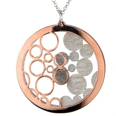 Frederic Duclos  Sterling Silver  Rose Gold Plated Bubbles Galore Necklace